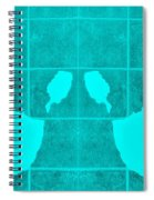 White Hands Aquamarine Spiral Notebook