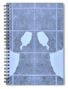 White Hands Cyan Spiral Notebook
