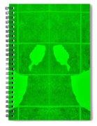 White Hands Green Spiral Notebook
