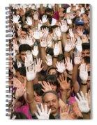 White Hands  - Manos Blancas Spiral Notebook