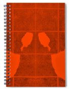 White Hands Orange Spiral Notebook