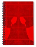 White Hands Red Spiral Notebook