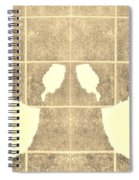 White Hands Sepia Spiral Notebook