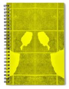 White Hands Yellow Spiral Notebook