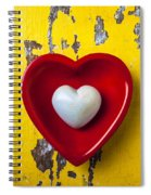 White Heart Red Heart Spiral Notebook
