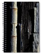 White Hinge On The Old Red Barn Spiral Notebook