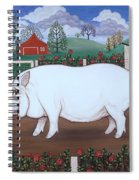 White Hog And Roses Spiral Notebook