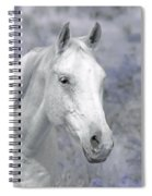 White Horse In Lavender Pasture Spiral Notebook