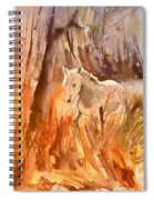 White Horse In The Camargue 01 Spiral Notebook