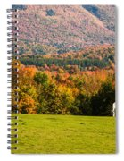 White Horses Grazing With View Of Green Mtns Spiral Notebook