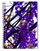 White Hot Wisteria Spiral Notebook