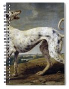 White Hound Spiral Notebook