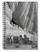 White House Black And White Spiral Notebook