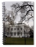 White House On A Cloudy Winter Day Spiral Notebook