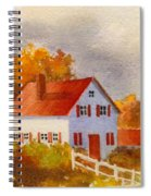 White House With Red Shutters Spiral Notebook