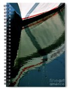 White Hull On The Water Spiral Notebook