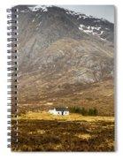 White Hut Under Stob Dearg Spiral Notebook