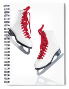 White Ice Skates With Red Laces Spiral Notebook