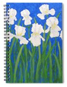 White Irises Spiral Notebook