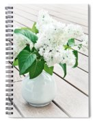 White Lilac Spiral Notebook