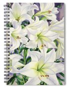 White Lilies Spiral Notebook