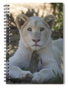 White Lion Cub  Spiral Notebook