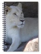 White Lion Looking Proud Spiral Notebook
