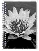 White Lotus Flower Spiral Notebook
