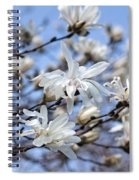 White Magnolia Magnificence Spiral Notebook