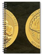 White Mountain Apache Tribe Code Talkers Bronze Medal Art Spiral Notebook