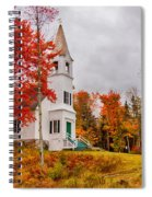 White New Hampshire Church Spiral Notebook