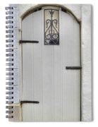 White On White Door Spiral Notebook