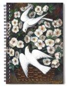 White On White Spiral Notebook
