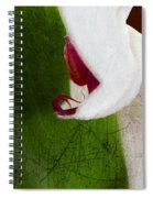 White Orchid Scratched Spiral Notebook