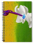 White Orchids On Yellow And Green Spiral Notebook