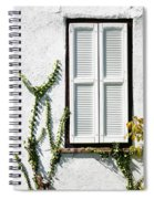 White Painted Shutter Spiral Notebook
