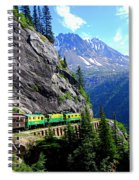 White Pass And Yukon Route Railway In Canada Spiral Notebook