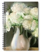 White Peonies Spiral Notebook