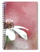 White Petals Spiral Notebook