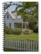 White Pickett Fence Spiral Notebook