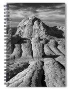 White Pocket Brain Rock Spiral Notebook