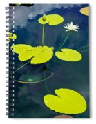 White Pond Lily Spiral Notebook