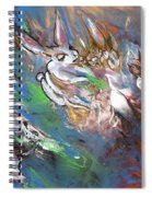 White Rabbits On The Run Spiral Notebook