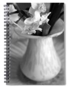 White Rays And Flowers Spiral Notebook