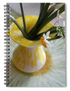 White Rays And Narcissus Spiral Notebook