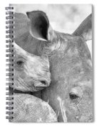 White Rhino With Calf Spiral Notebook