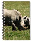 White Rhinoceros Spiral Notebook