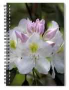 White Rhododendren Spiral Notebook