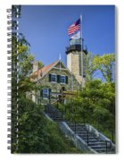 White River Lighthouse In Whitehall Michigan No.057 Spiral Notebook