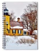 White River Winter Panoramic Spiral Notebook